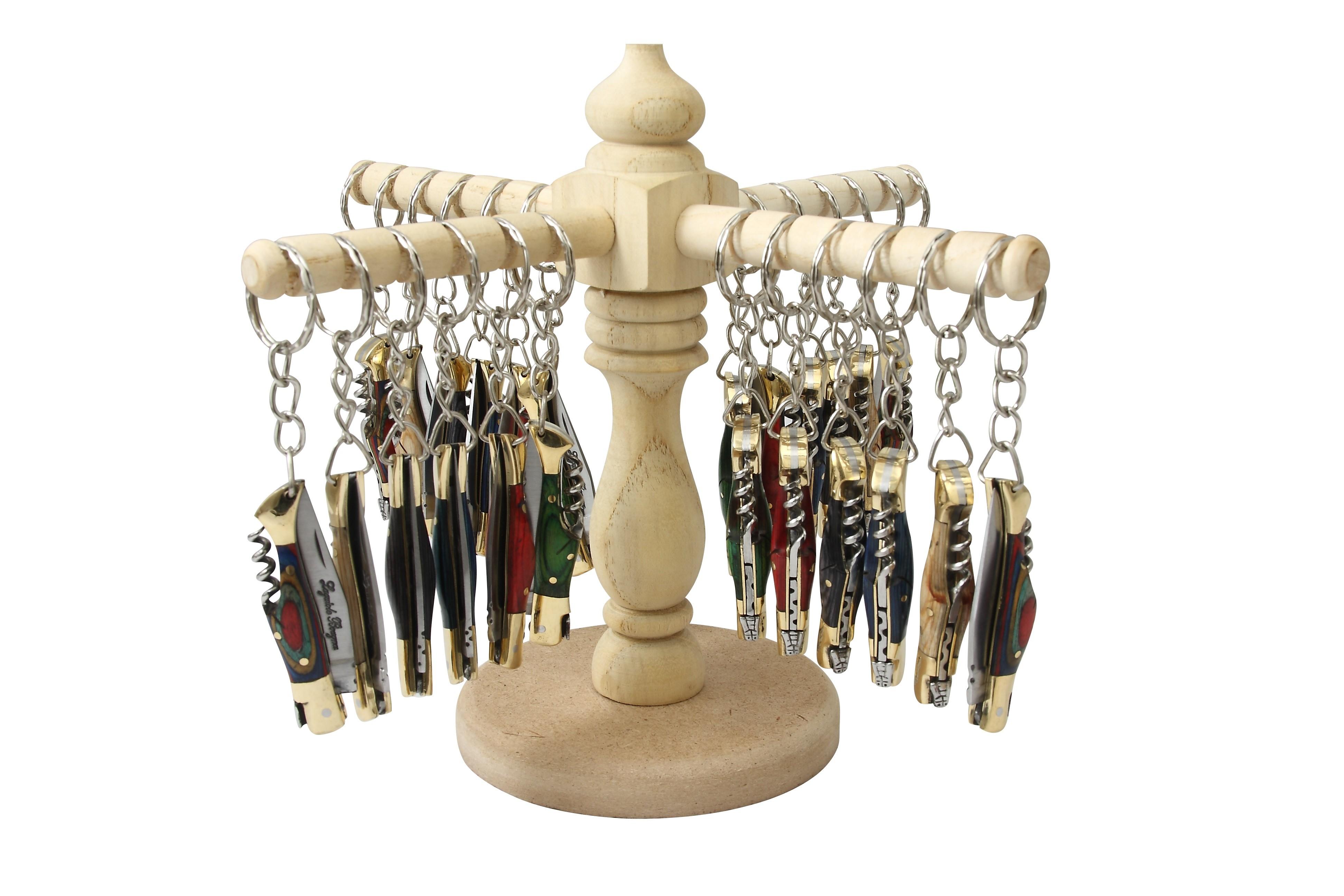 Présentoir pour 24 porte-clés + 24 porte-clés