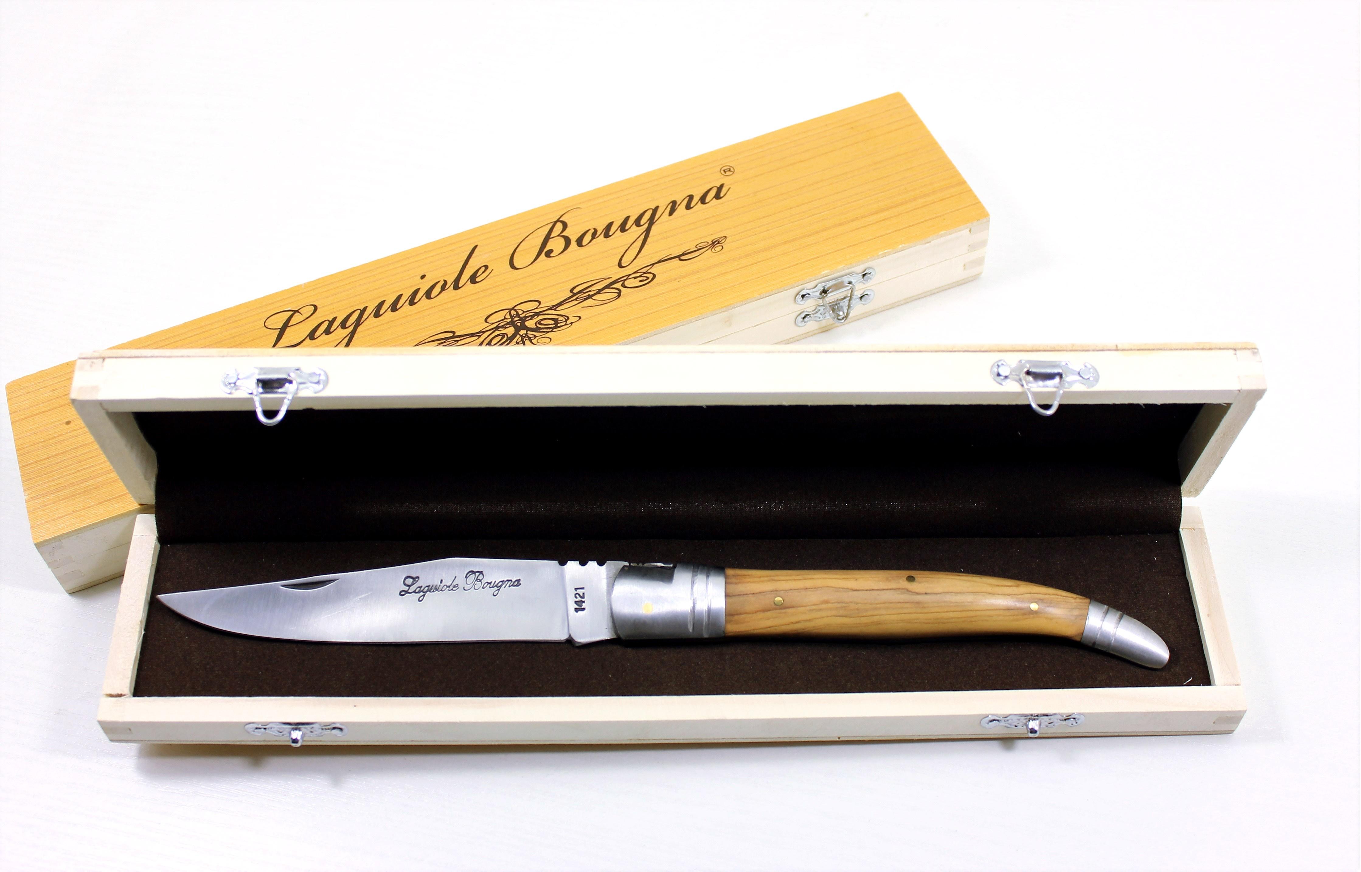 LB - Coffret - Couteau géant 18 cm - teck