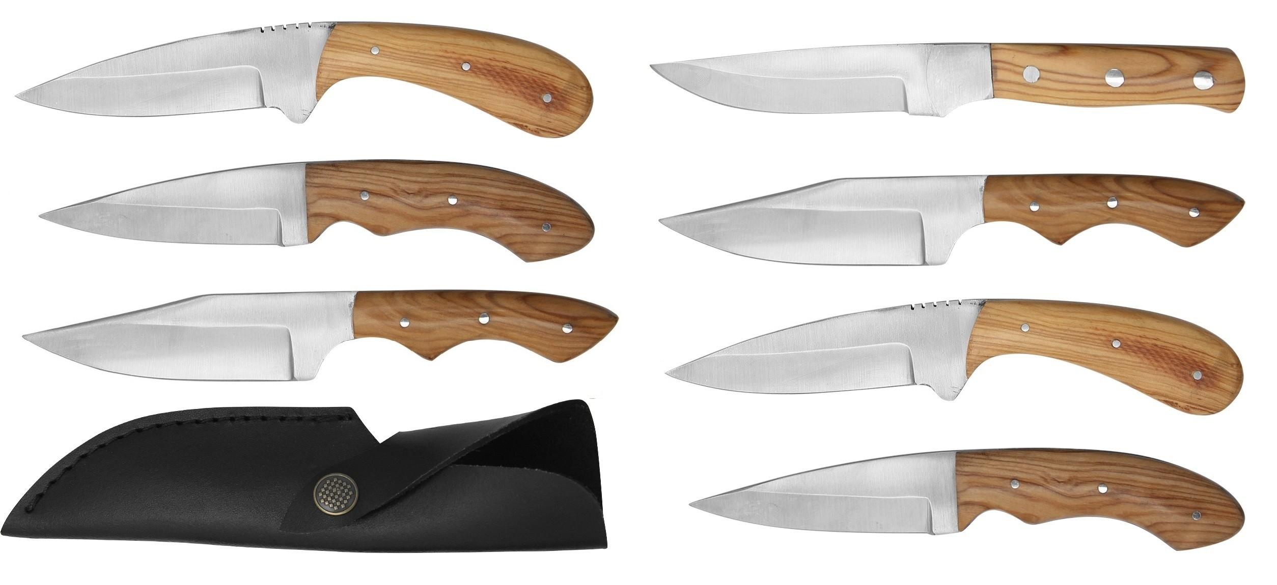 Pack de 7 couteaux à lame fixe