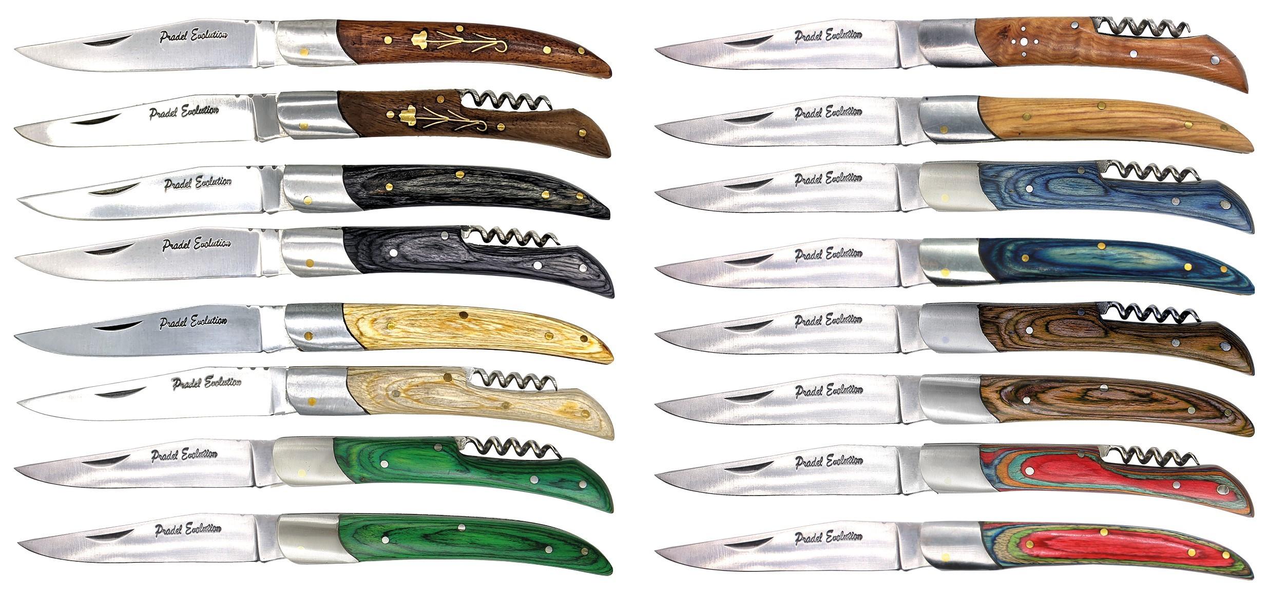 Pack de 16 couteaux de poche Pradel Evolution